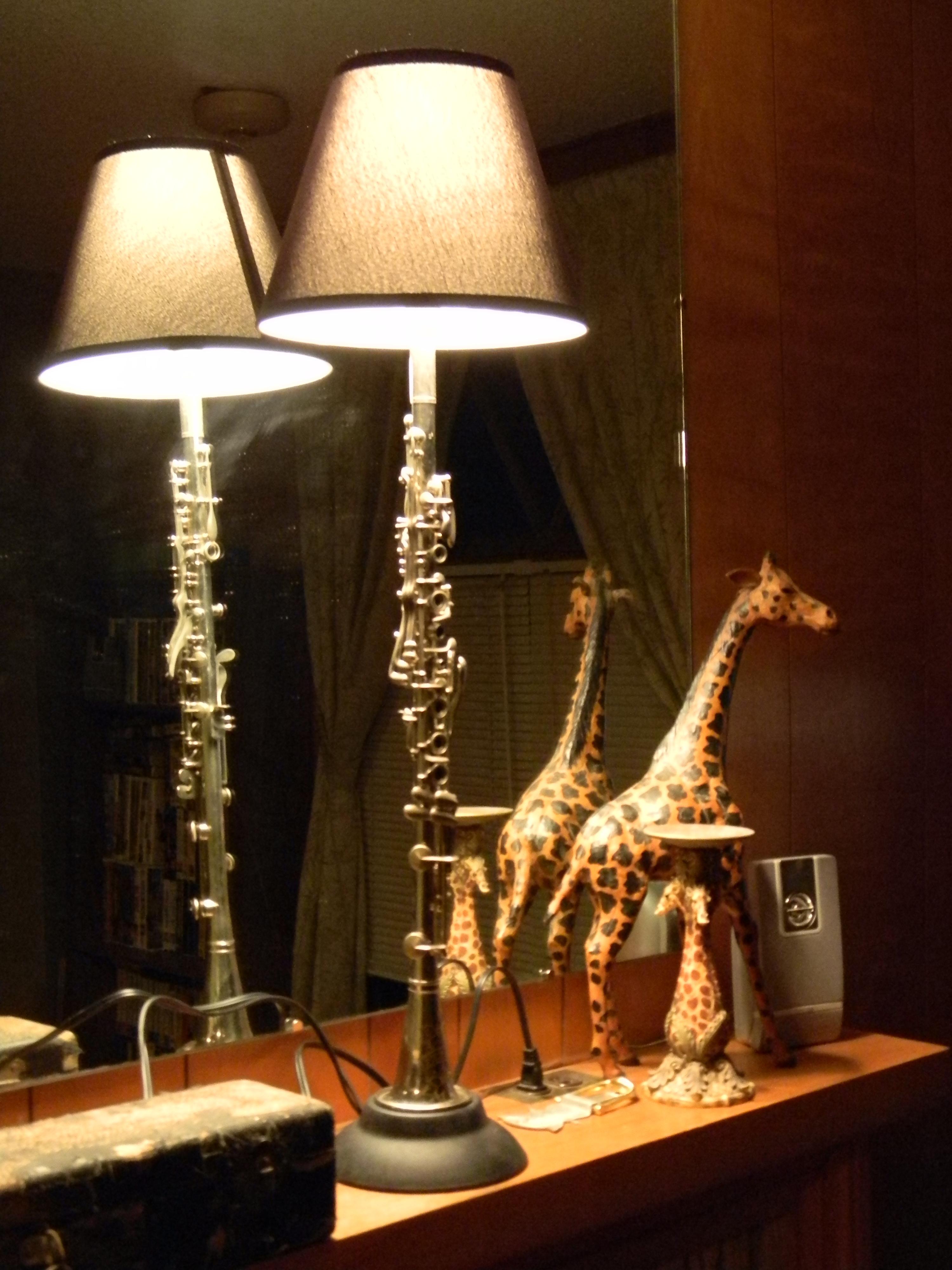 Classy Clarinet Lamp