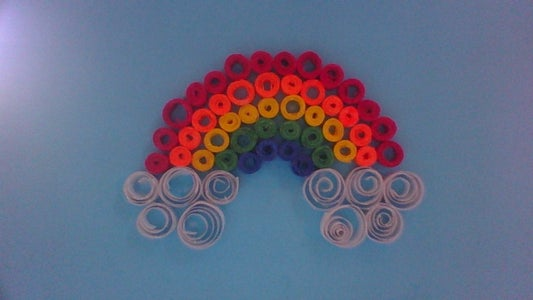 How to Make a Quilled Rainbow