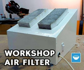 Workshop Air Filter With Old Car Filter