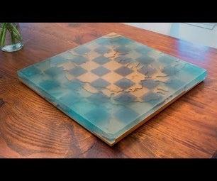 Making an Epoxy Ocean Chessboard