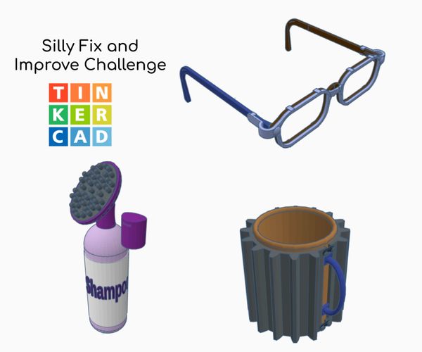 Silly Repairs and Improvements Using Tinkercad