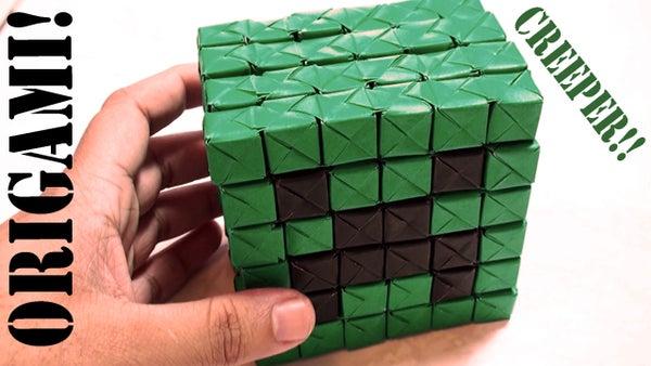 Minecraft Creeper Tutorial (Origami Sonobe)!
