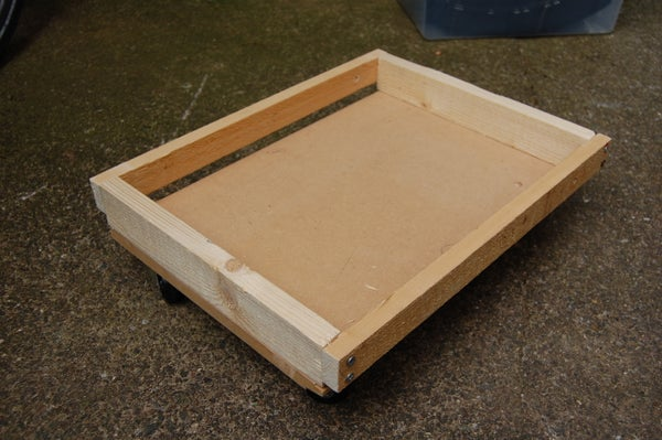 A Simple Trolley (or Dolly) for Lidded Plastic Storage Boxes