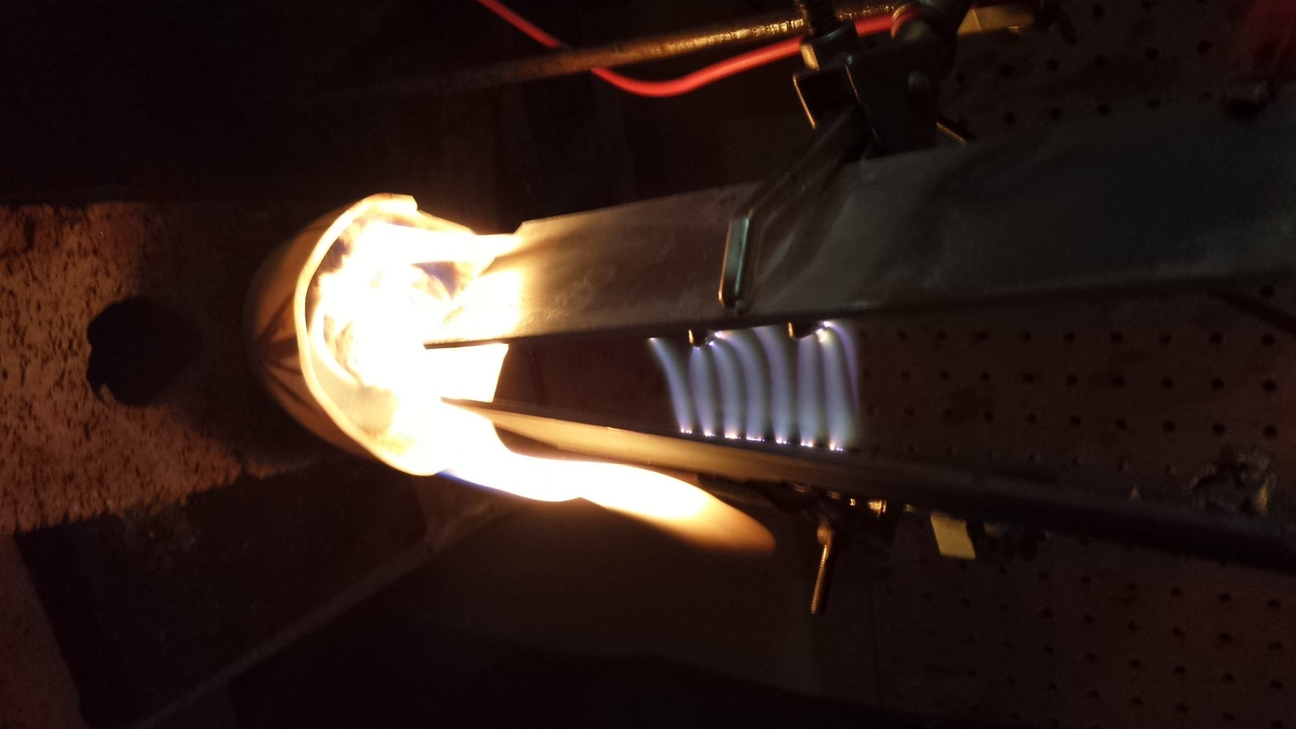 Ionization Effects of Plasma (Jacob Ladder) With Alcohol and Burning Cotton Balls.
