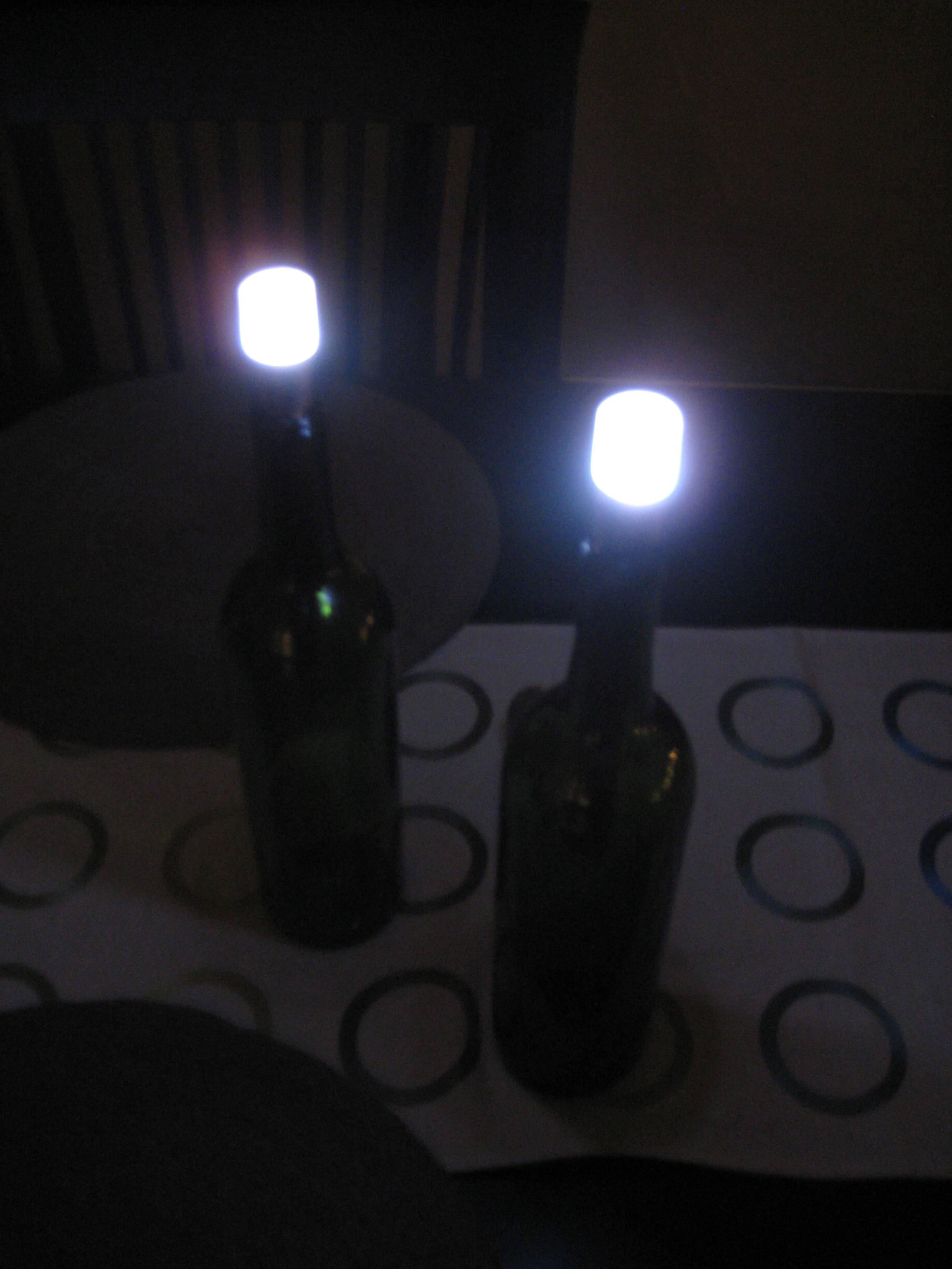 LED Wine Bottle Table Lamp