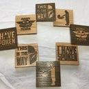 Laser Wooden Inlay Coasters