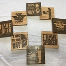 Laser Wooden Inlay Coasters