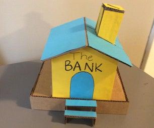 纸板房子硬币银行