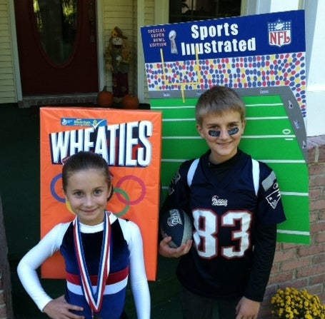 Olympic Gold Medalist on Wheaties and Patriots Player on Sports Illustrated