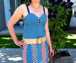 Casually Patriotic - a Scarf Dress
