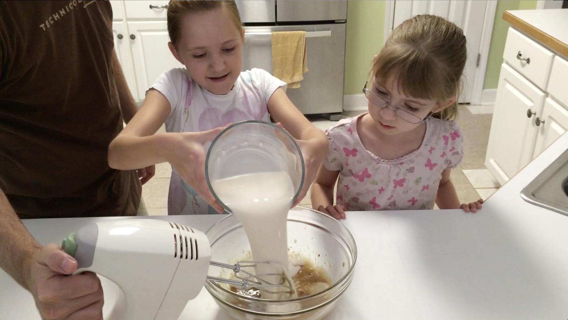 Add Almond Milk and Mix