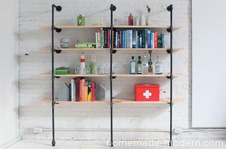 HomeMade Modern DIY Pipe Shelves