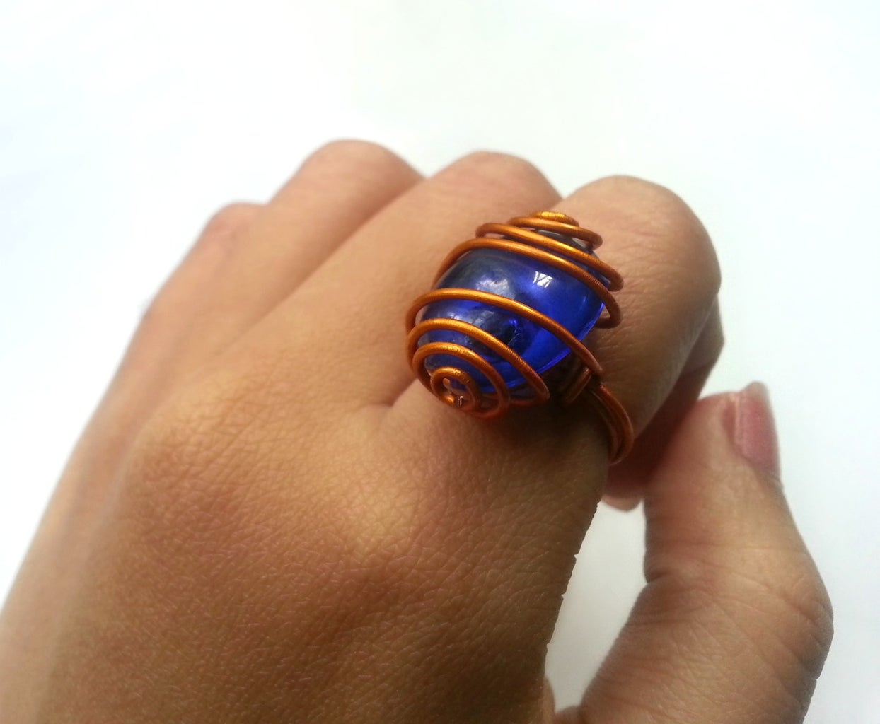 DIY Wire Wrapped Gemstone Ring
