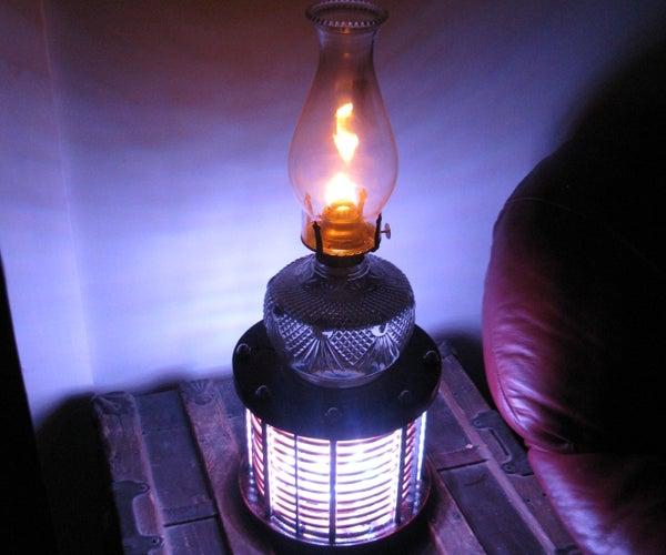 LED Oil Lamp Pedestal... Lamp