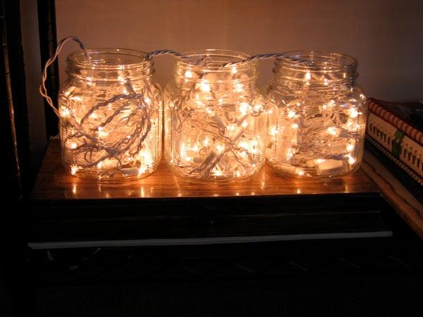 Christmas Light Wad Lamps