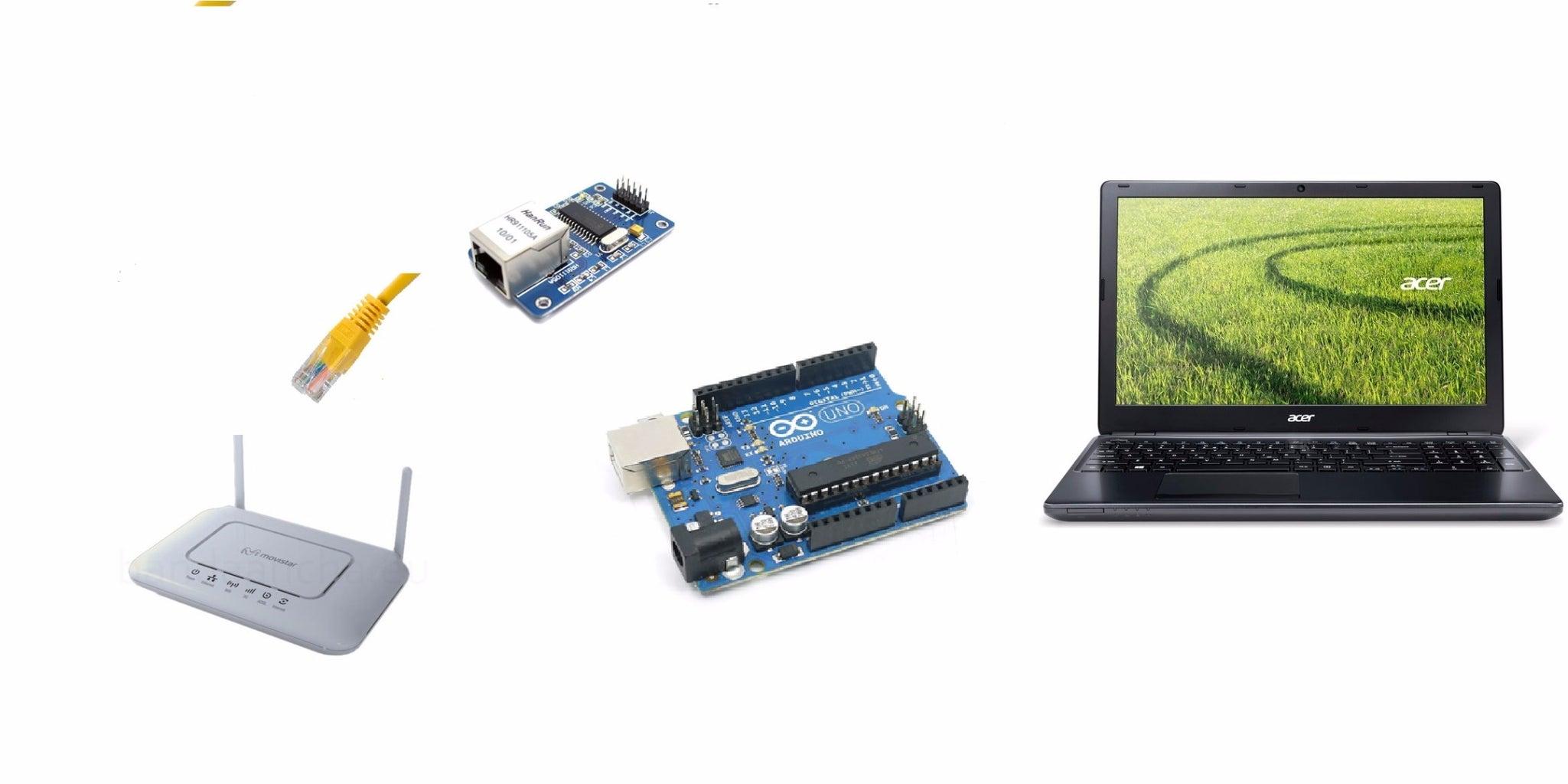 Arduino Web Server Enc28j60, PIR and Led