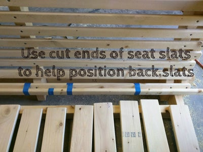 Sand and Attach Swing Back Slats.