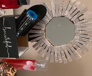 衣夹、镜子和梳妆台