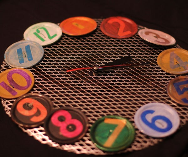Making a Can Lid Clock