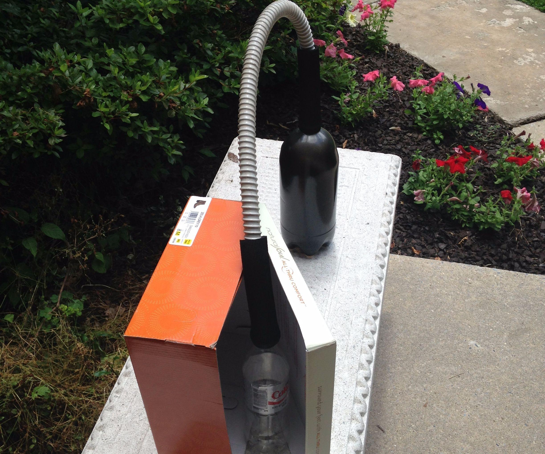 Simple solar distiller made from trash
