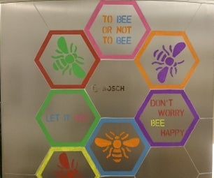 A Fridge Full of Bees - Refrigerator Art With Chalk Markers