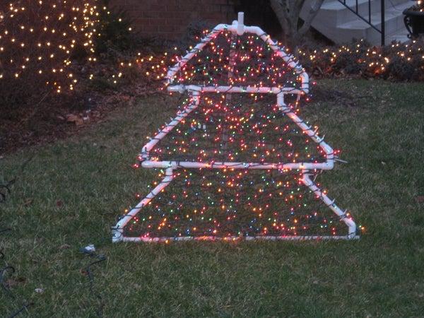 PVC Christmas Tree Lighted Yard Decoration