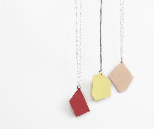 Making geometric pendants!