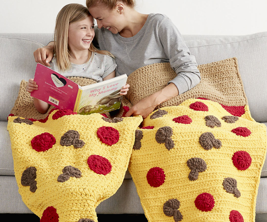 Pizza Party Crochet Snuggle Sack