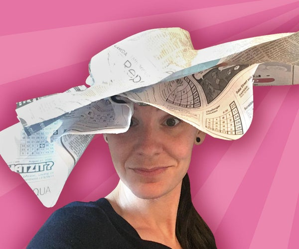Sun Bonnet Newspaper Hat