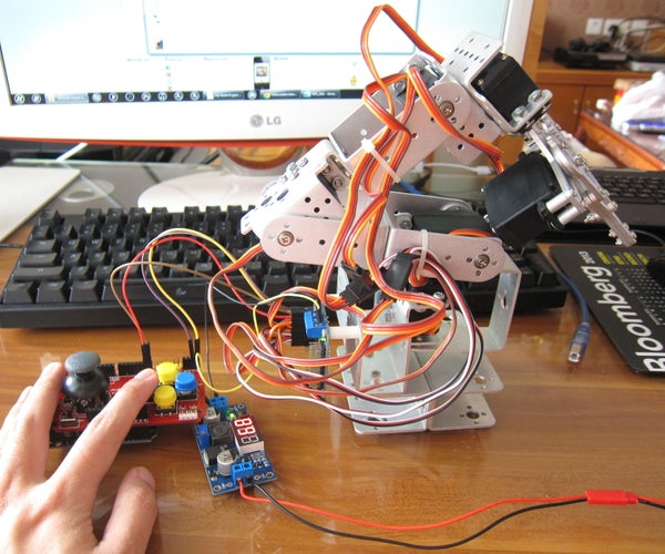 My Ninth Project: Robot Arm With Joystick Shield