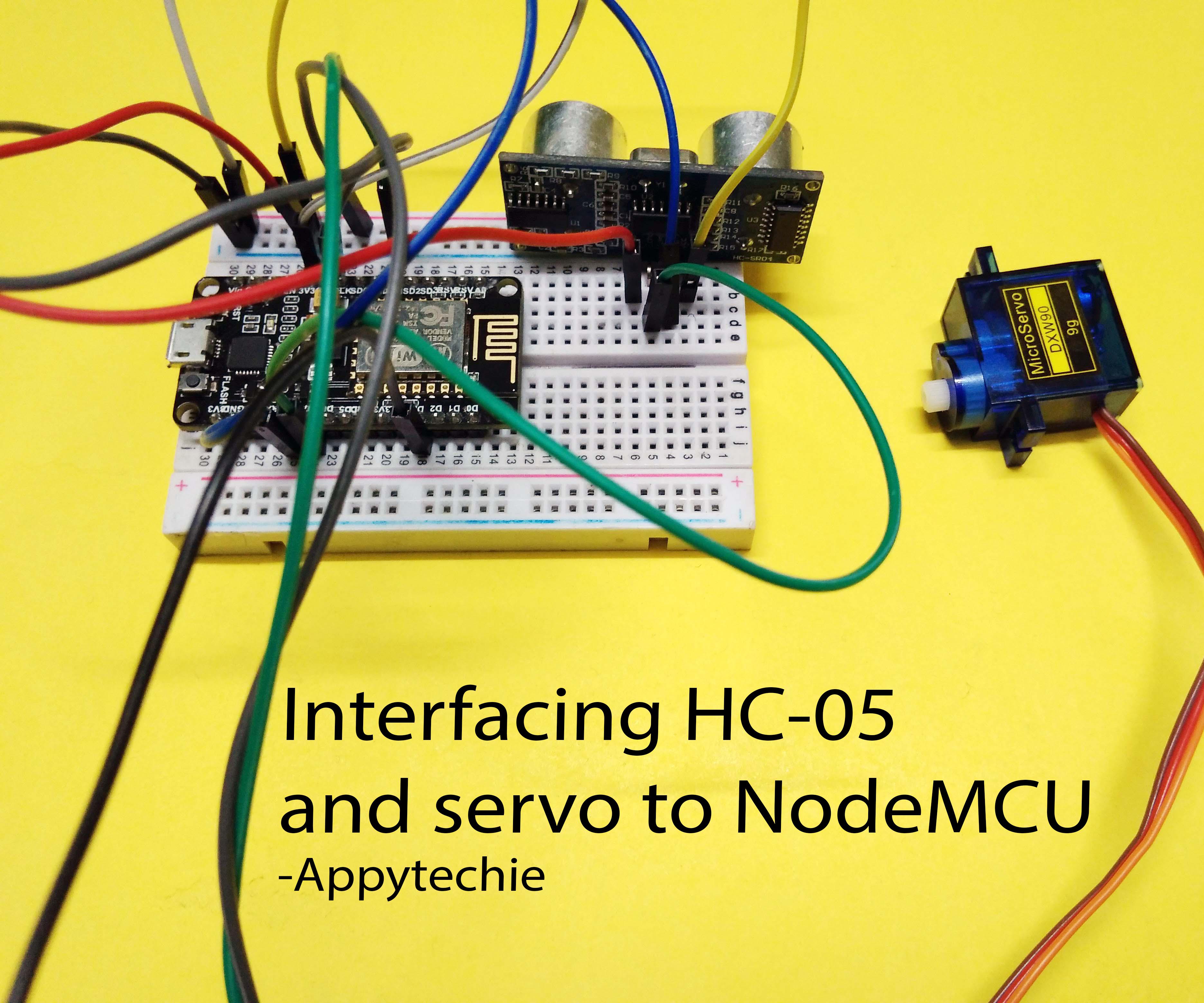Ulttrasonic Sensor Controlled Servo in NodeMCU