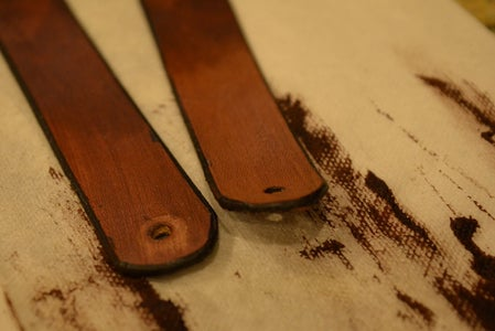 Cut and Finish Leather Handles
