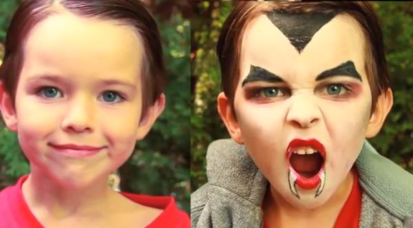 Dracula Vampire Makeup for Kids