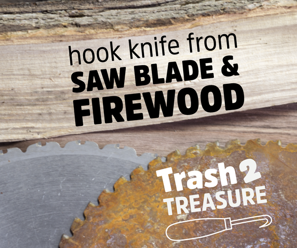 Firewood and Saw Blade Knife