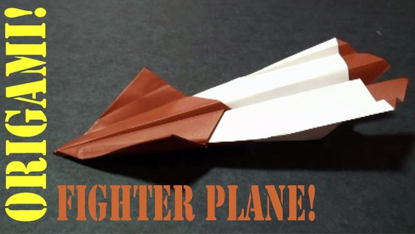 How to Make an Origami Fighter Plane (Paper Airplane)!