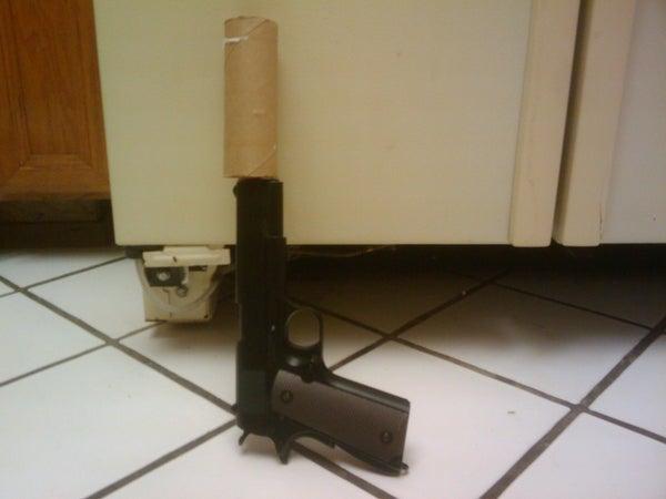 Toilet Paper Tube Airsoft Gun Silencer