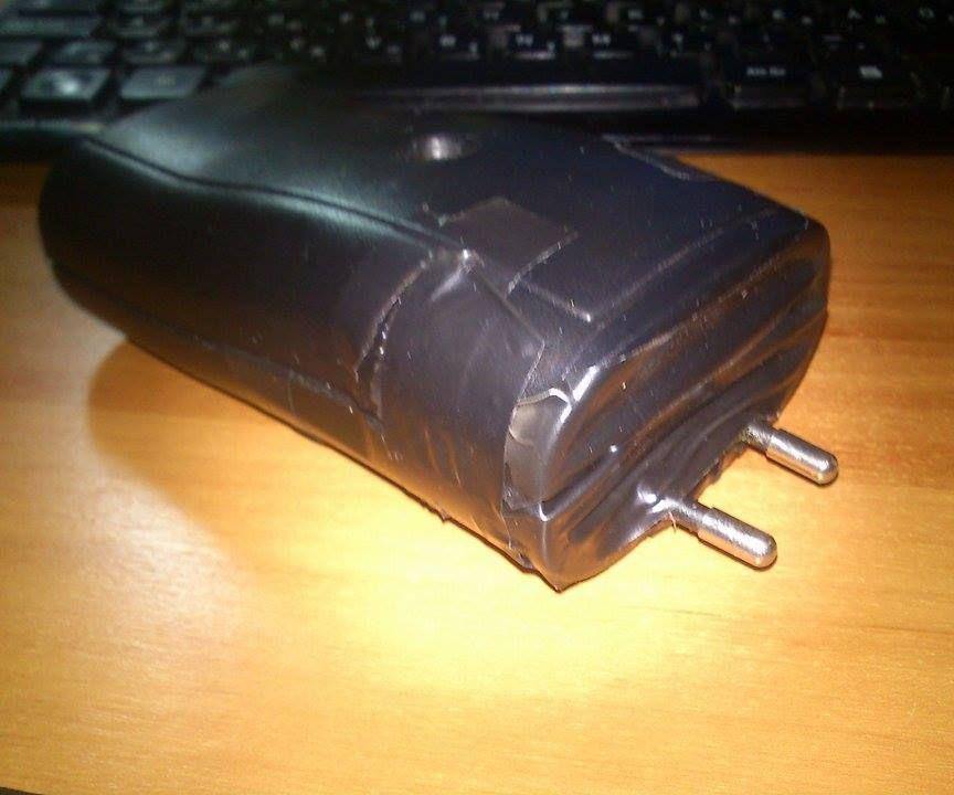 Taser (stun gun) from a battery charger adapter V2.0