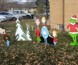 DIY Plywood Christmas Yard Art Holiday Decorations