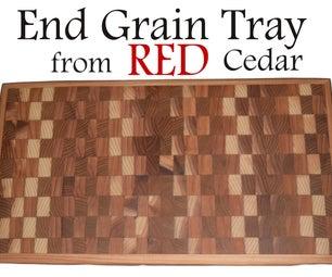 Red Cedar End Grain Tray