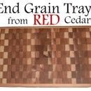 Red Cedar End Grain Tray