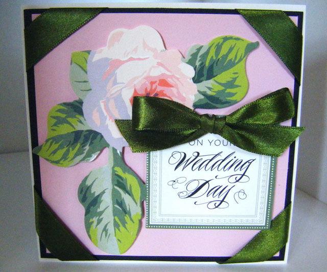 How to make Vintage Collage Wedding Rose Card