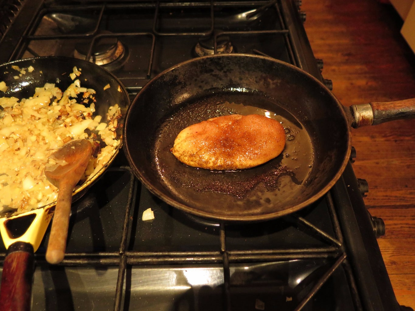 Cooking the Chicken.