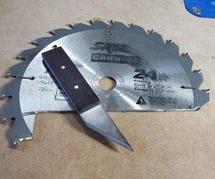 旧锯片刻痕刀