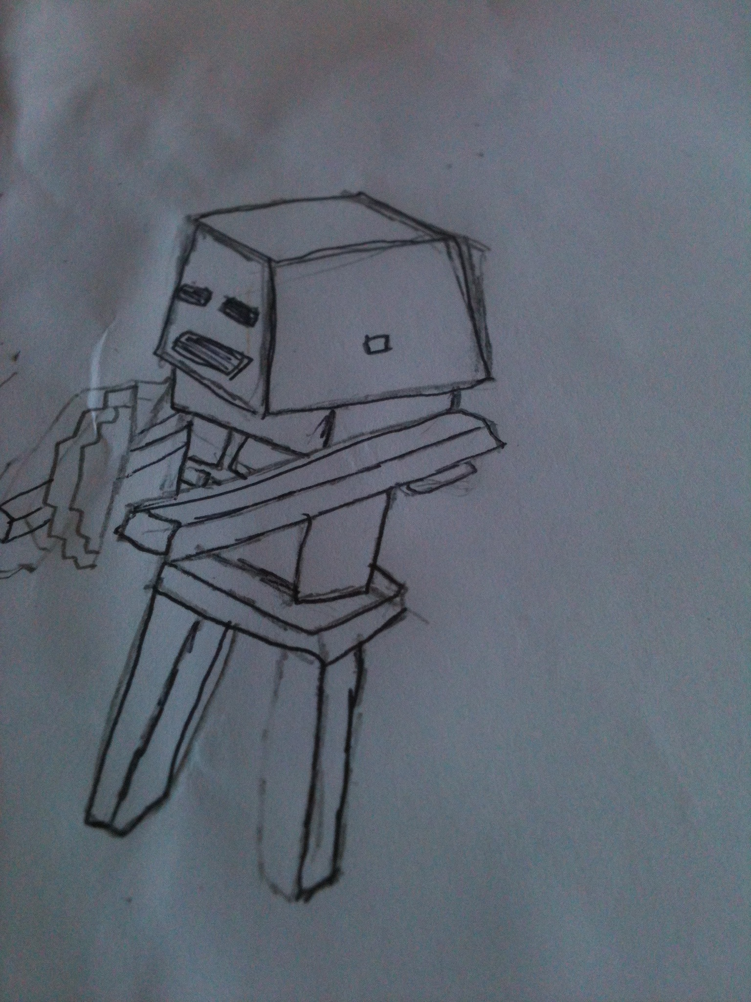 How To Draw A Minecraft Skeleton - A Minecraft Series