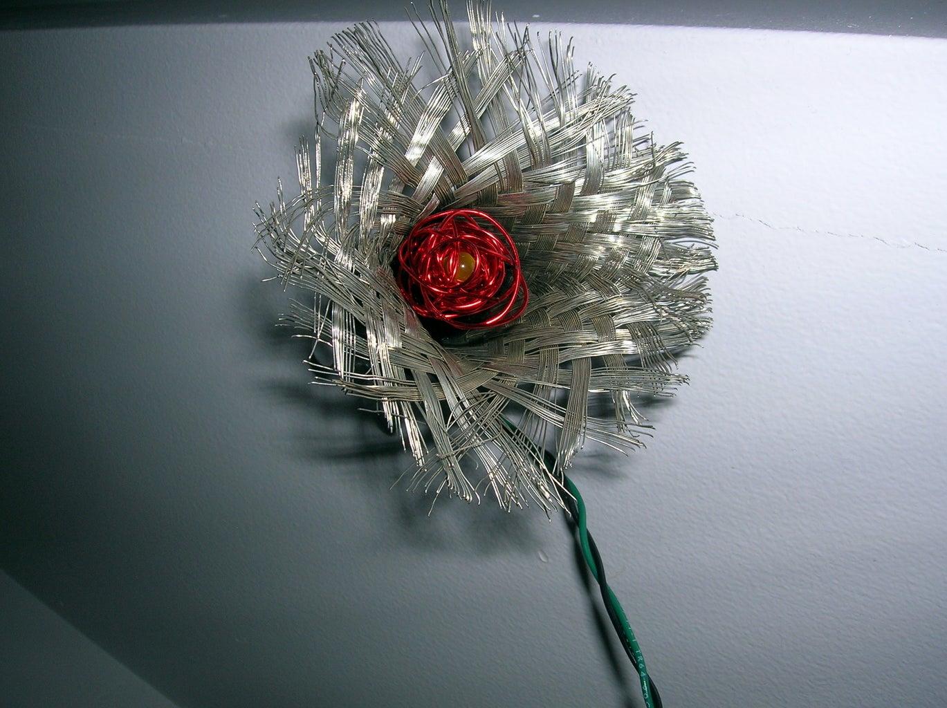 LED Steampunk Rose
