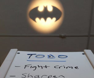 Bat Signal - Made From LED Floodlight, PVC Frame, and Whiteboard