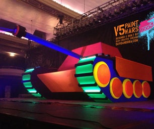 Giant Toy Tank DJ Booth