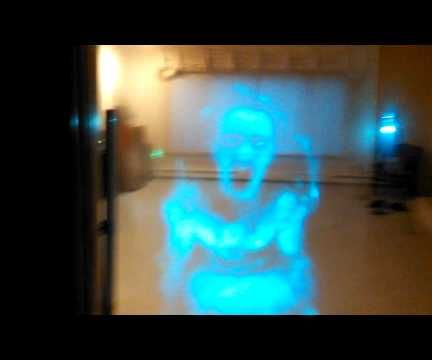Raspberry Pi Motion Activated Transparent Screaming Ghost for Halloween