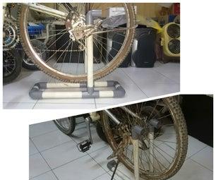 PVC Bike Wheel Stand