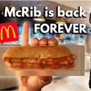 mcrib永远回归......永远。(保留食物和抛光环氧树脂)